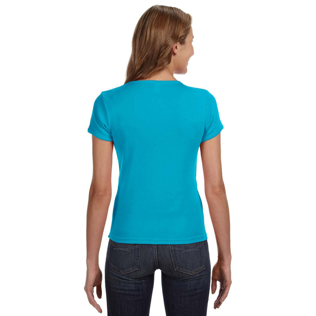 Anvil Women's Caribbean Blue Scoop T-Shirt