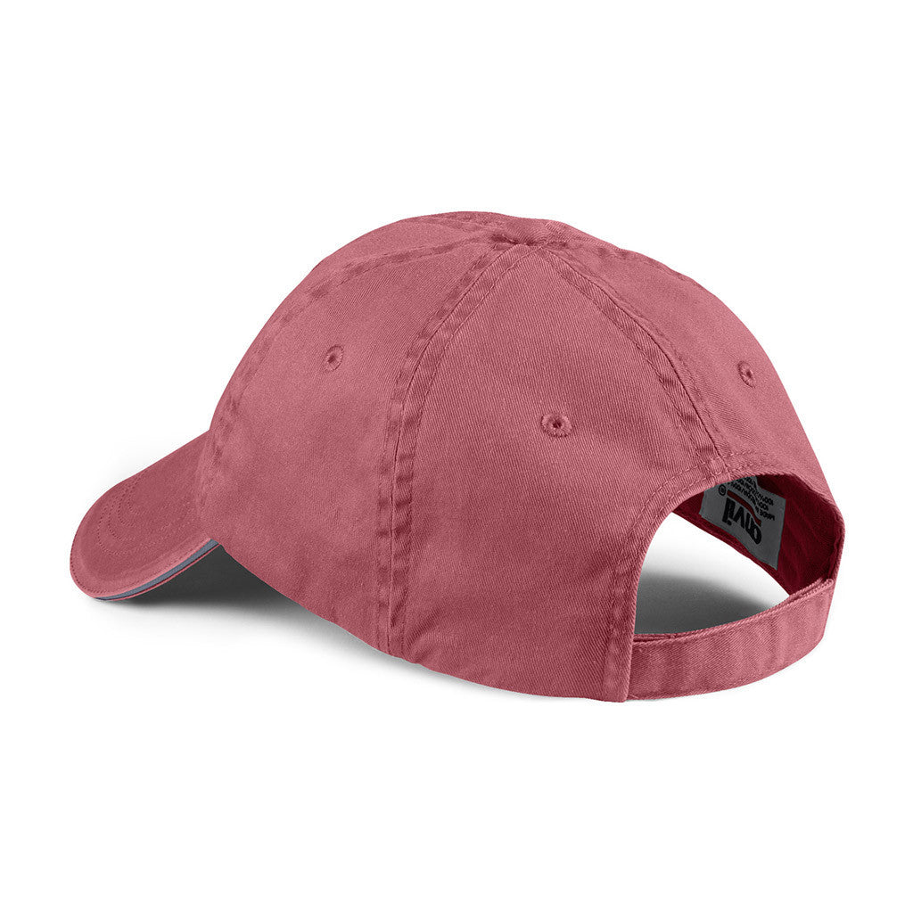 Anvil Red Rock Solid Low-Profile Sandwich Trim Pigment-Dyed Twill Cap