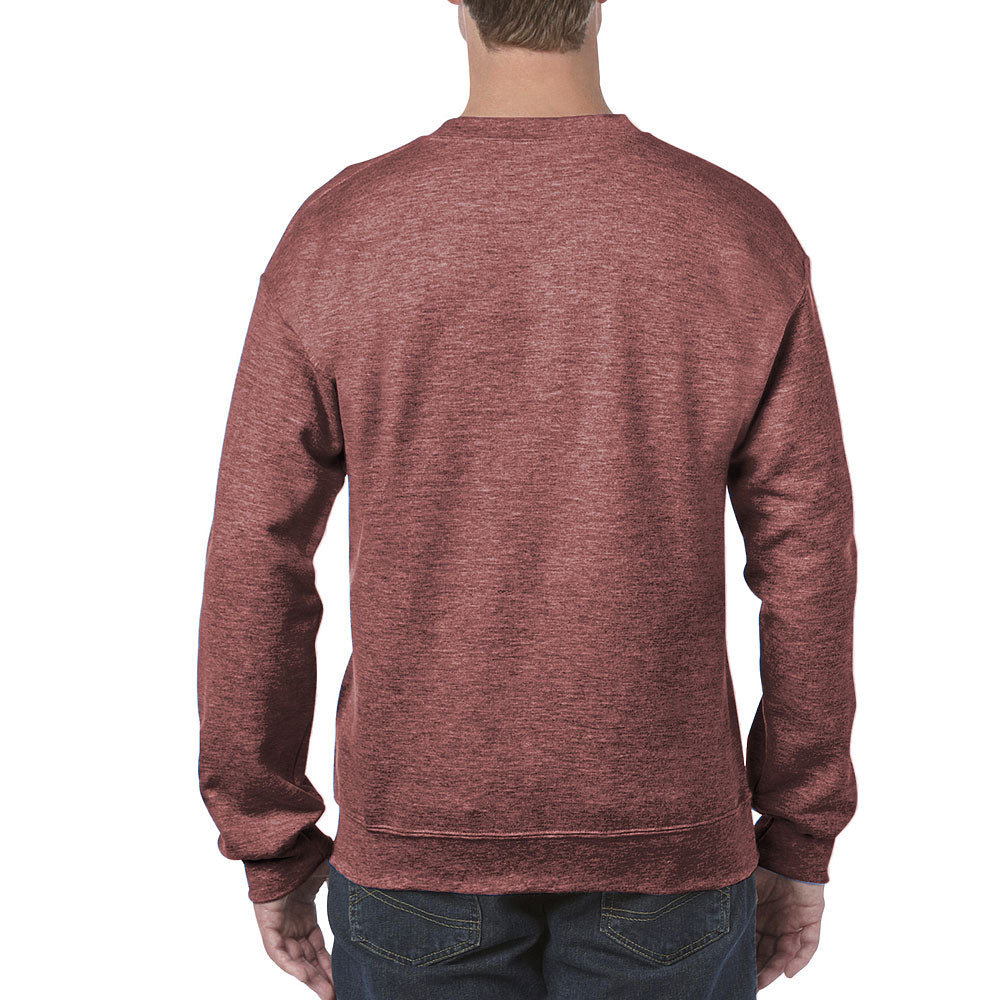 Gildan Men's Heather Sport Dark Maroon Heavy Blend Crewneck Sweatshirt