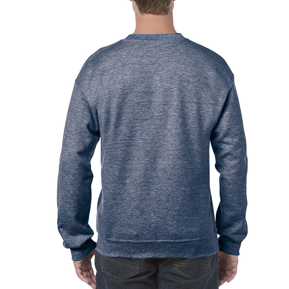 Gildan Men's Heather Sport Dark Navy Heavy Blend Crewneck Sweatshirt