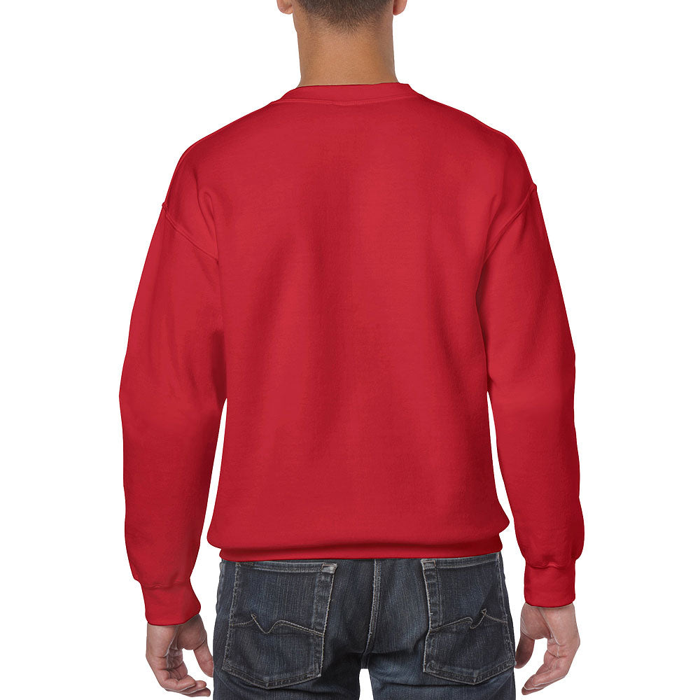 Gildan Men's Red Heavy Blend Crewneck Sweatshirt