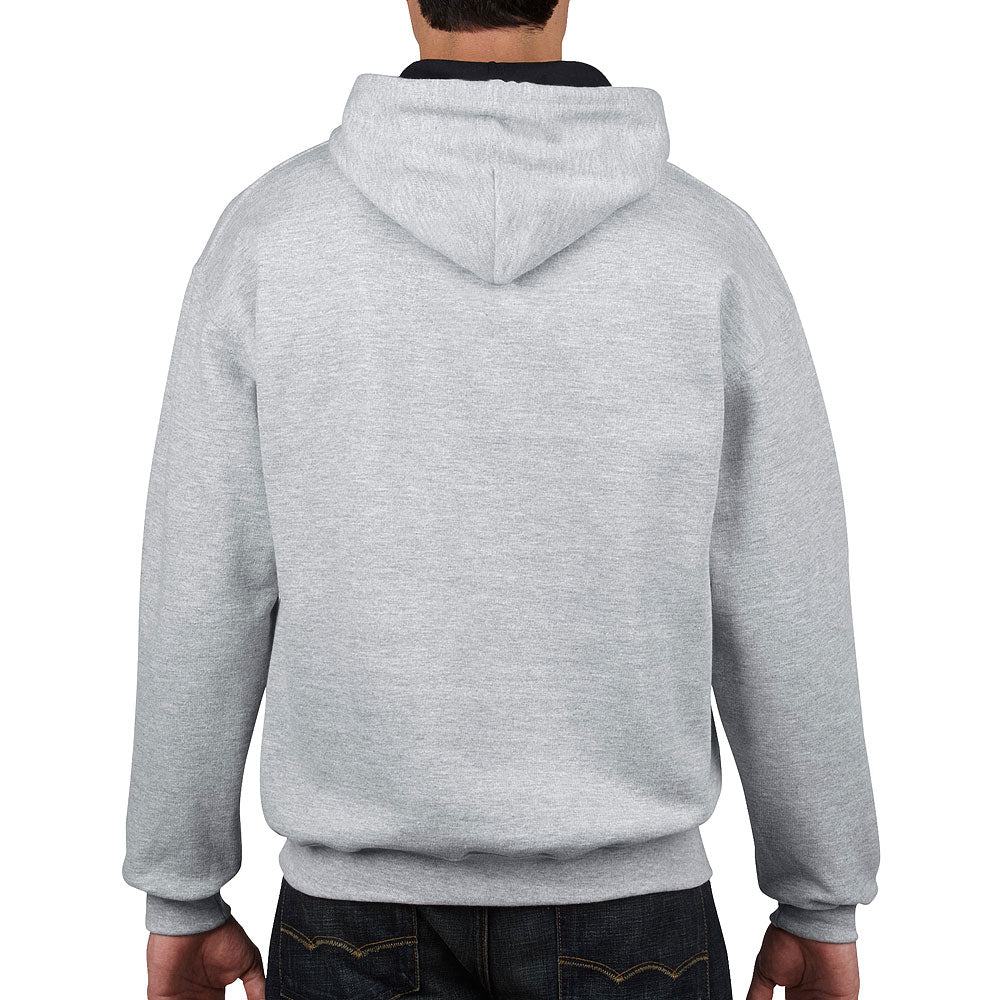 Gildan Men's Sport Grey/Black Contrast Hooded Sweatshirt
