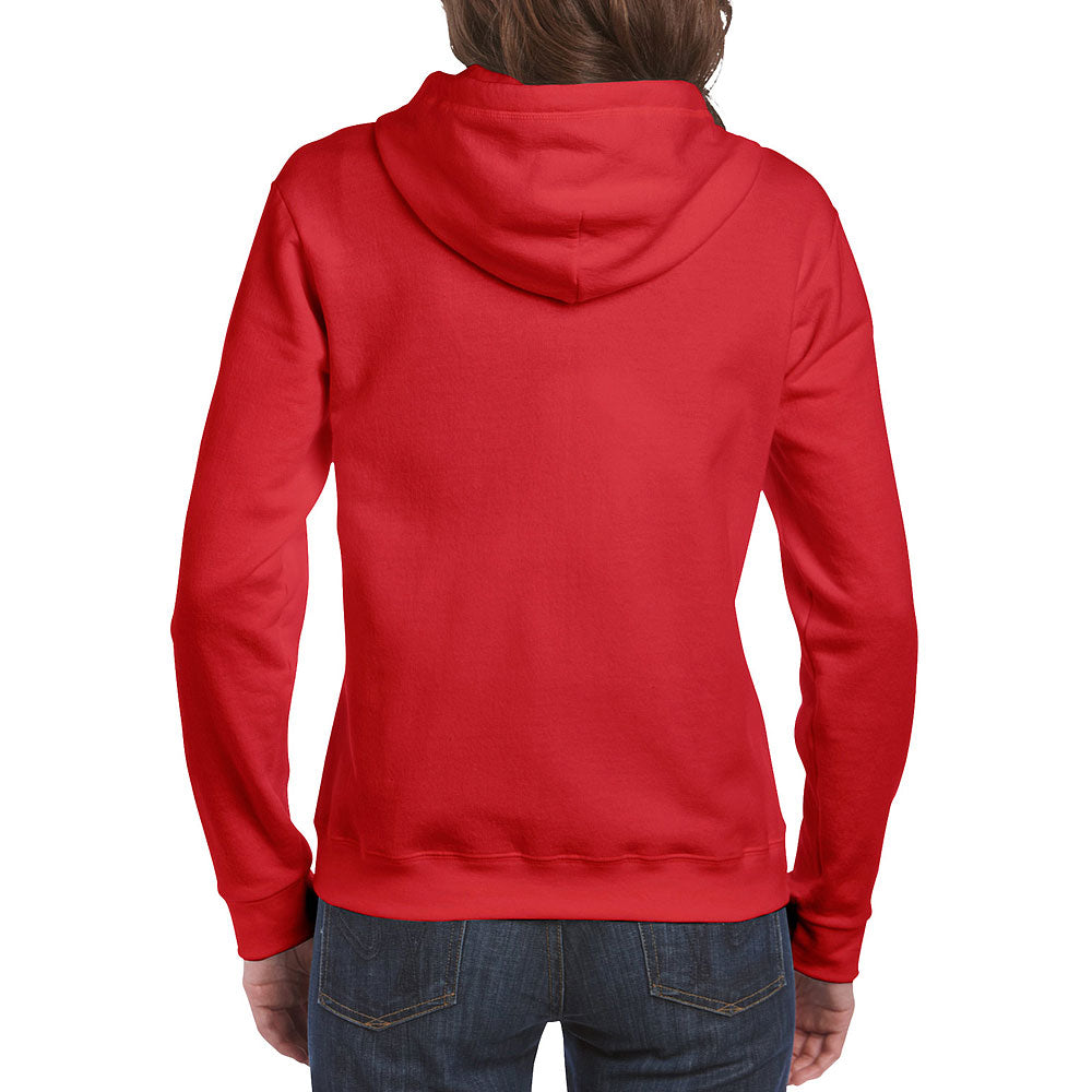 Gildan Women's Red Full Zip Hooded Sweatshirt