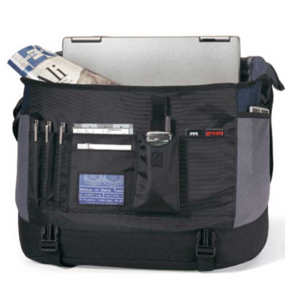 Gemline Grey Freestyle Computer Messenger Bag