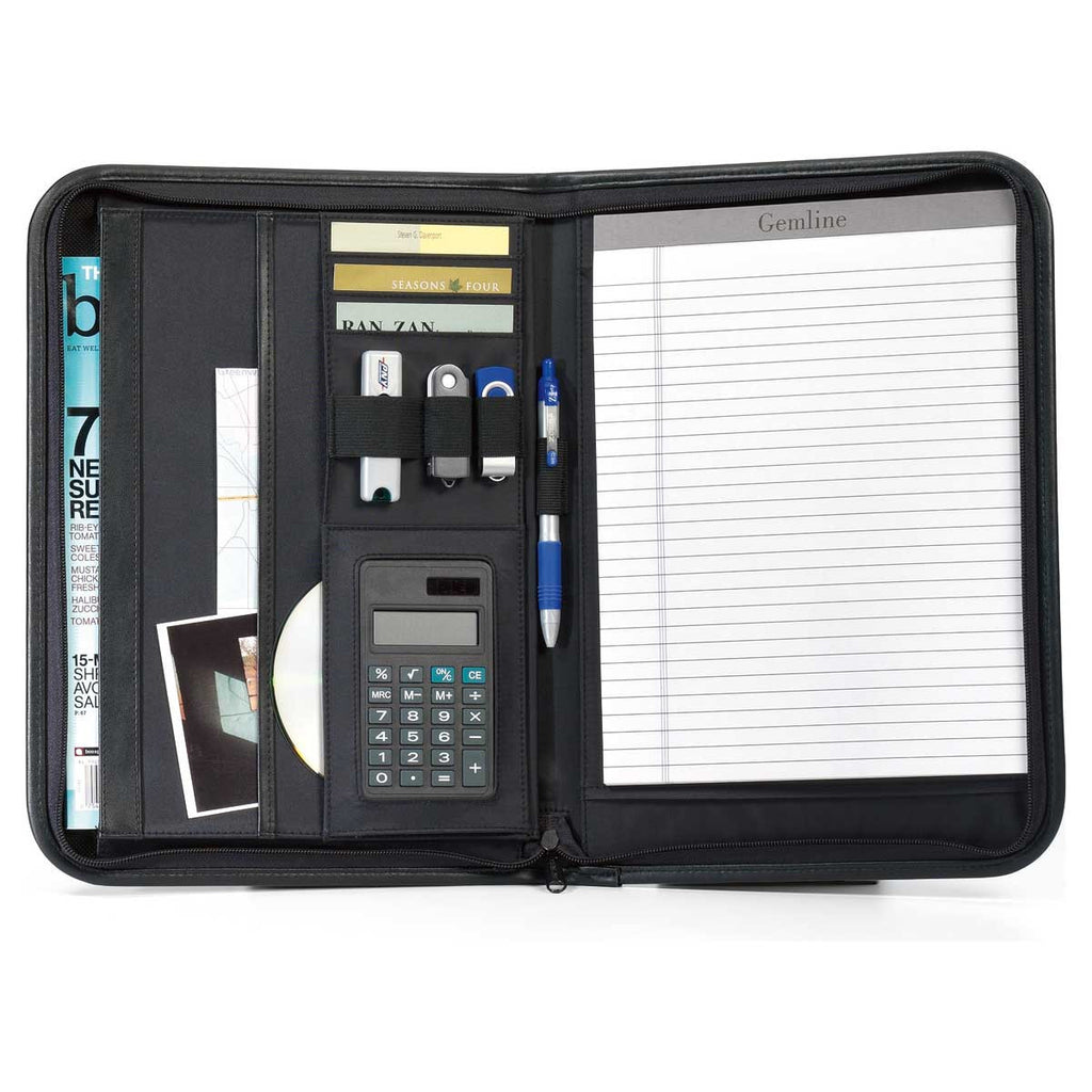 Gemline Black Wall Street Calculator Padfolio