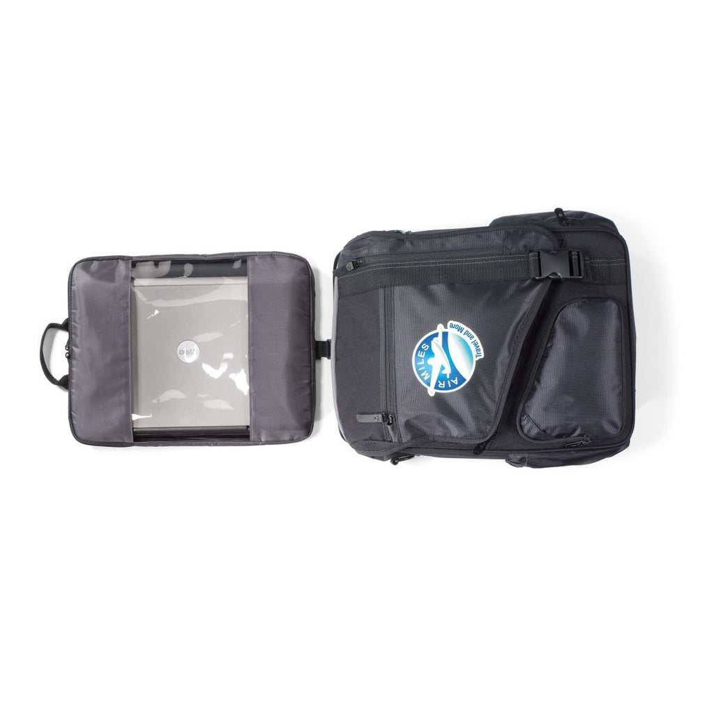 Life in Motion Black Momentum Computer Messenger Bag