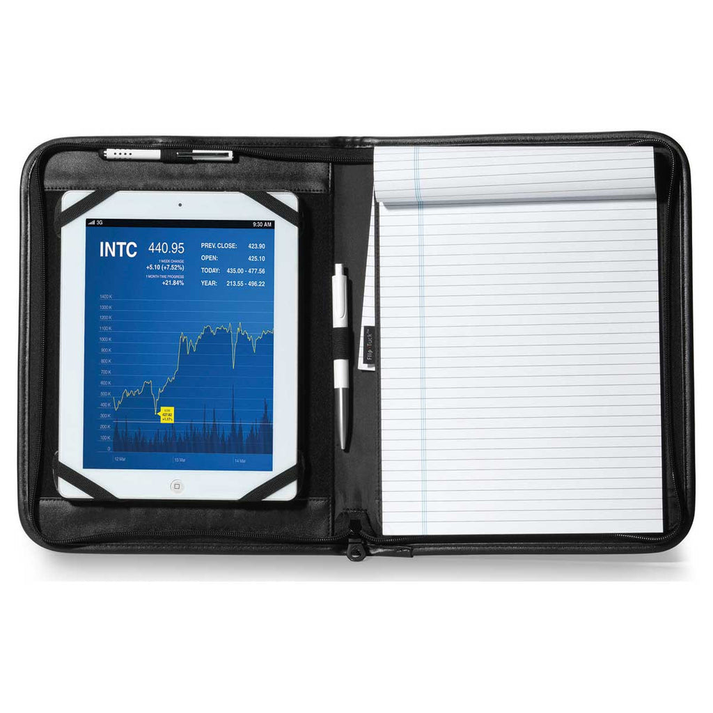 Gemline Black Noble Leather Tablet Stand E-Padfolio