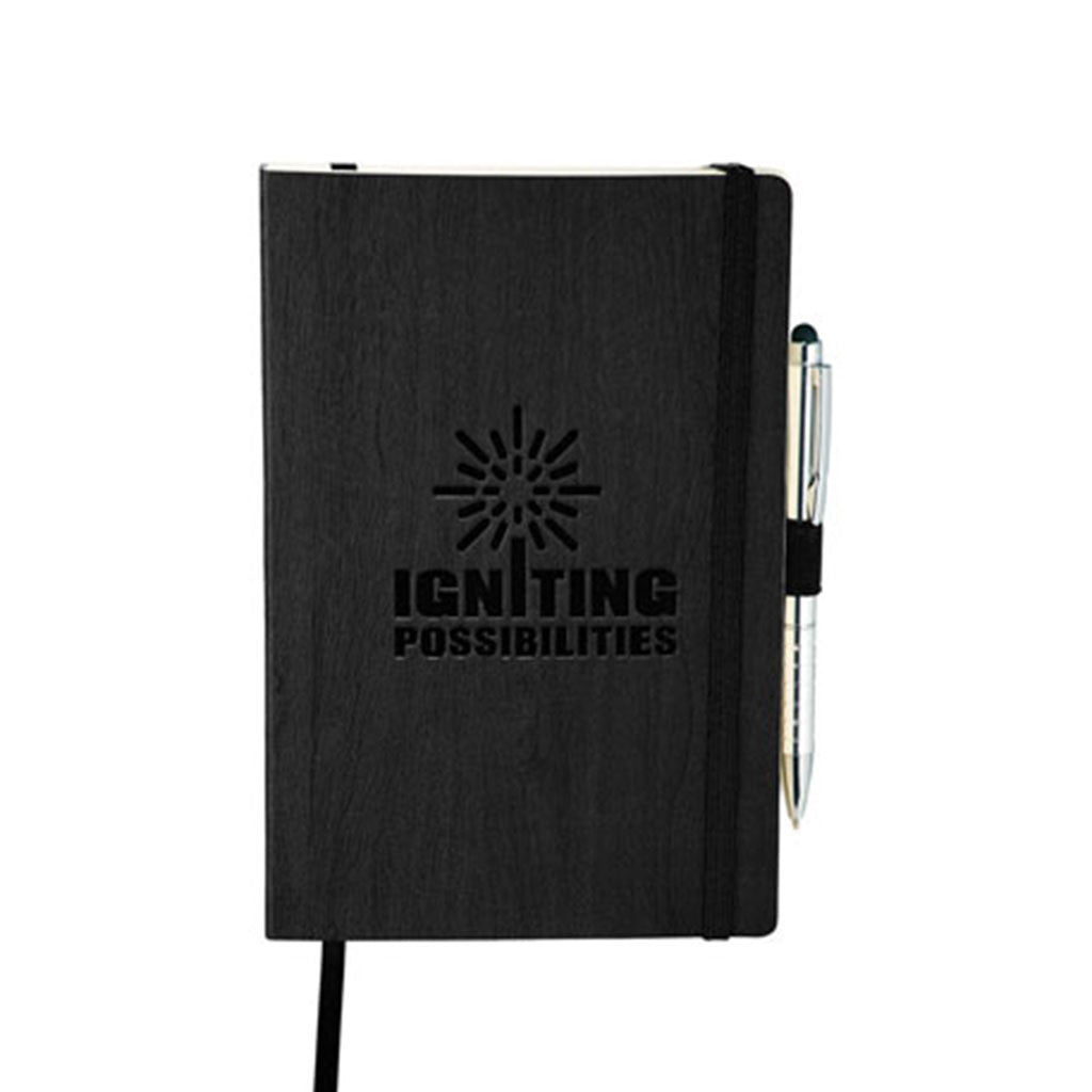 JournalBooks Black Ambassador Large Bound Notebook