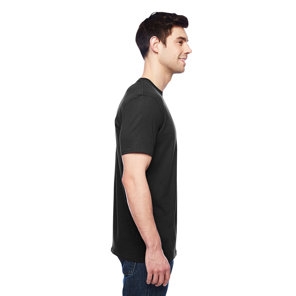 Anvil Men's Black 3.2 oz. Featherweight Short-Sleeve T-Shirt