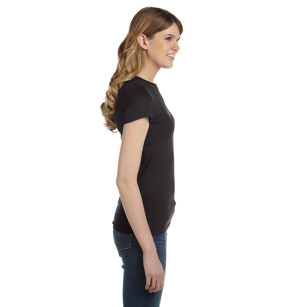 Anvil Women's Smoke Ringspun Fitted T-Shirt