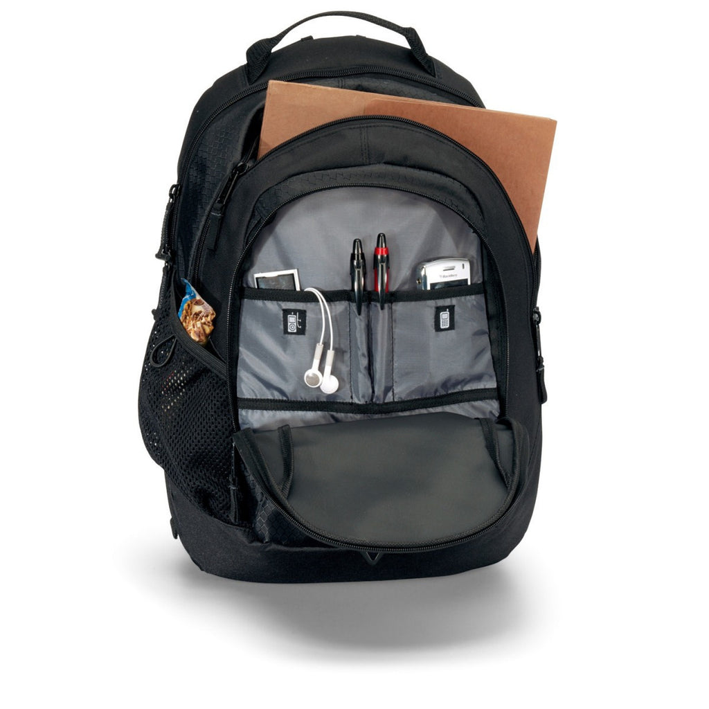 Life in Motion Black Primary Computer Backpack