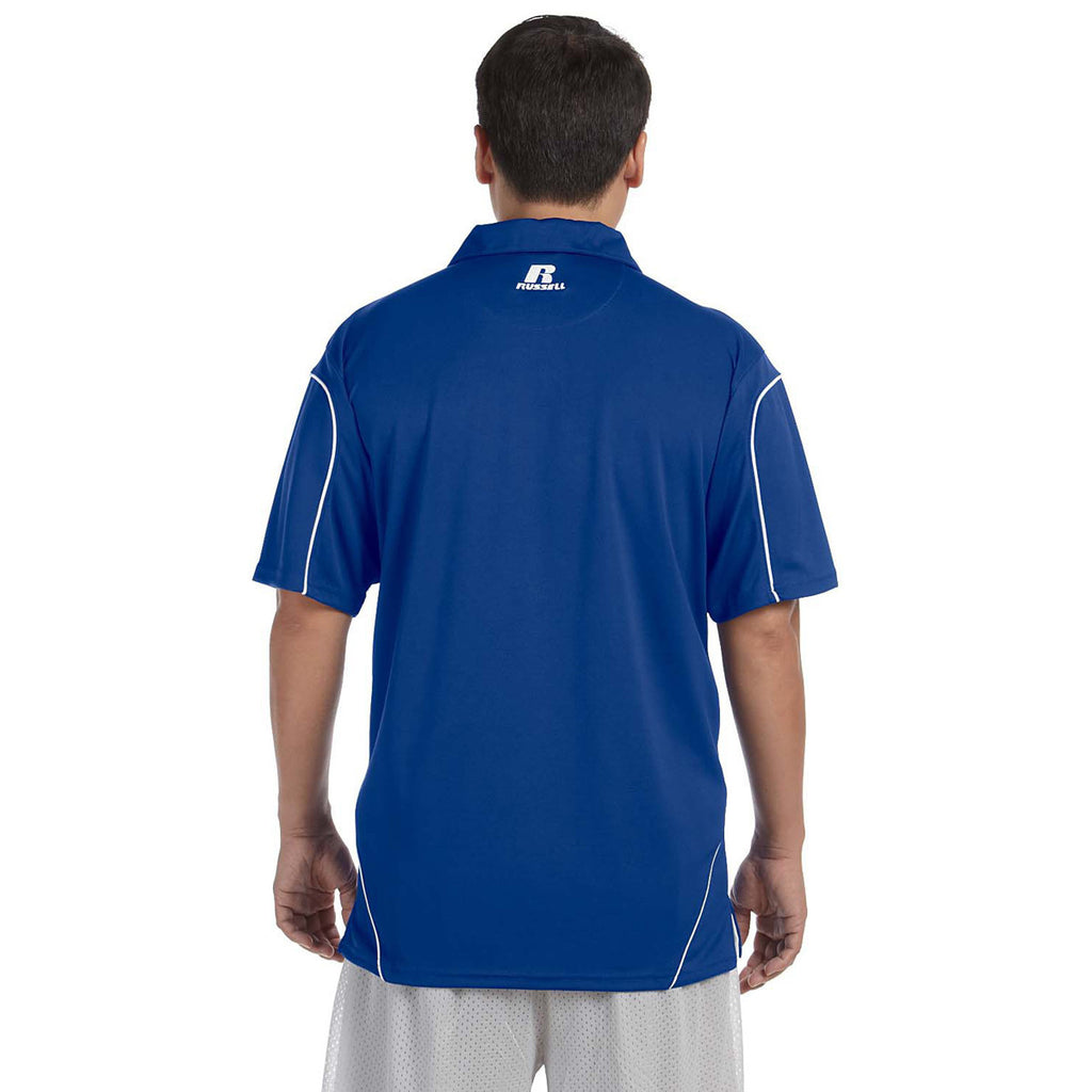 Russell Athletic Men's Royal/White Team Prestige Polo