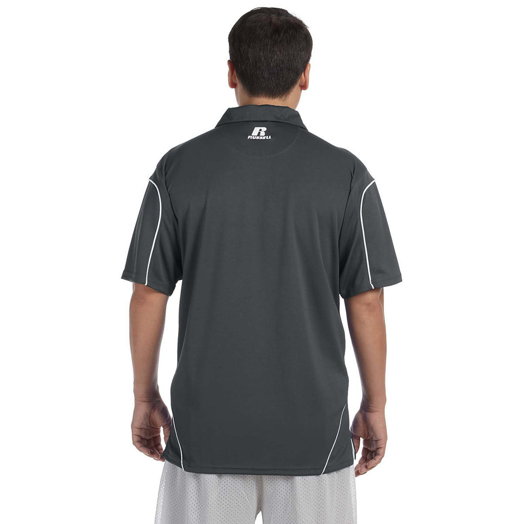 Russell Athletic Men's Stealth/White Team Prestige Polo