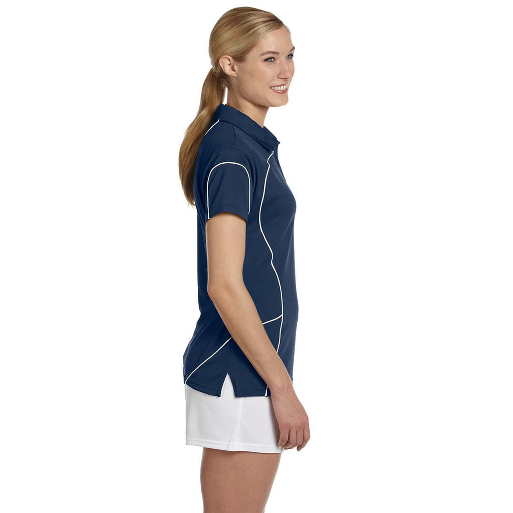 Russell Athletic Women's Navy/White Team Prestige Polo