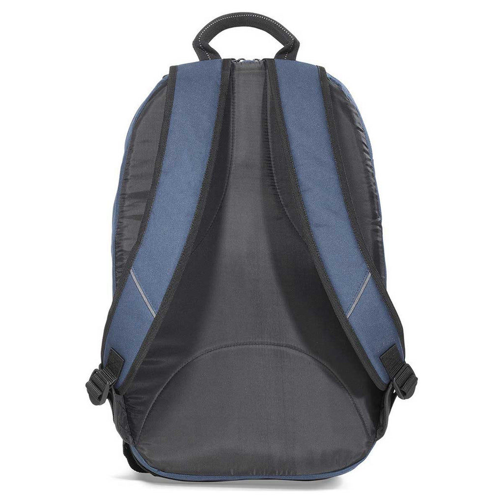 Gemline Navy Blue & Heather Grey McKinley Computer Backpack
