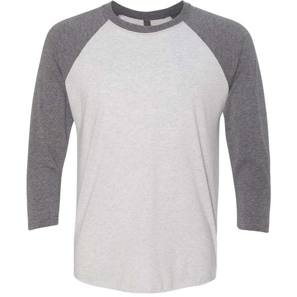 4c6086ce8d44 Next Level Unisex Premium Heather/Heather White Triblend 3/4-Sleeve Raglan  Tee