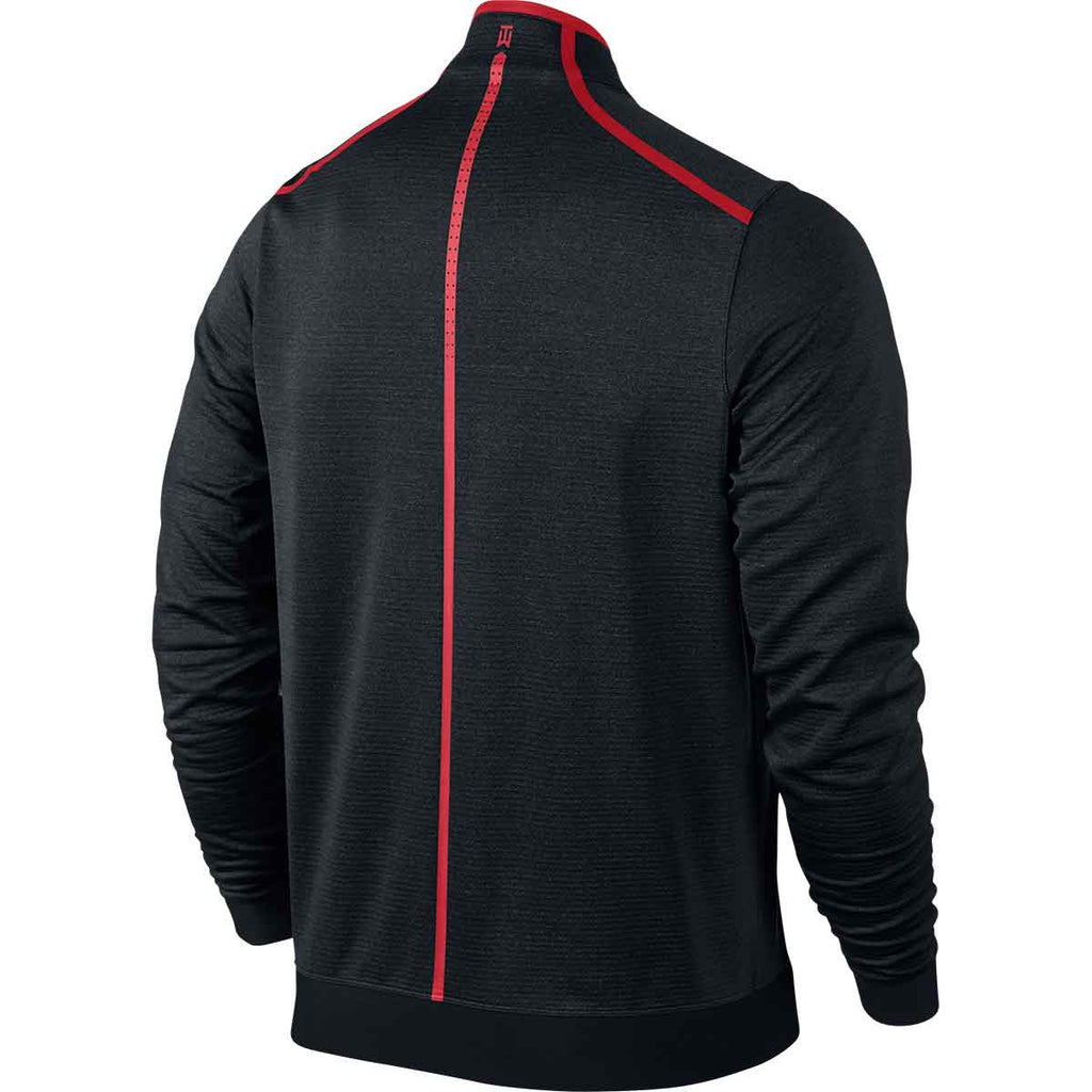 Nike Men's Black/Red TW Cypress Shield Half Zip
