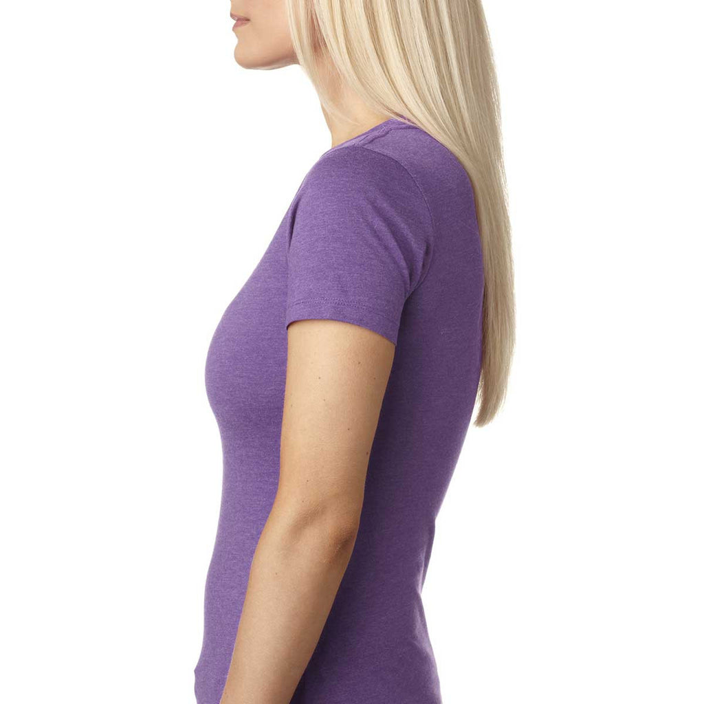 Next Level Women's Purple Berry CVC Crew Tee