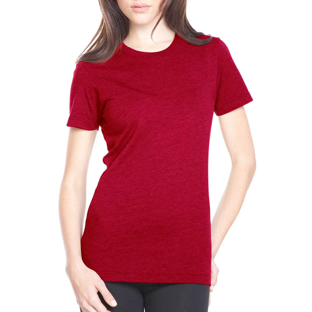 Next Level Women's Scarlet CVC Crew Tee