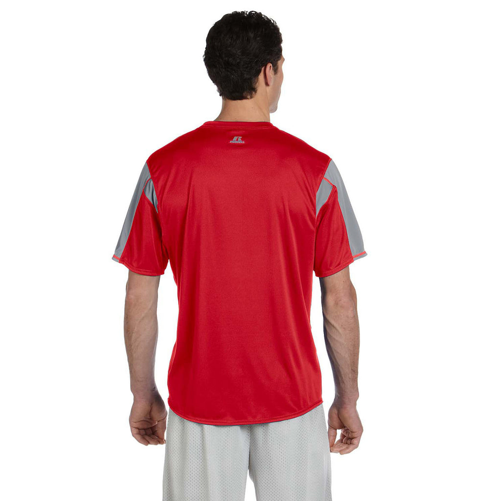 Russell Athletic Men's True Red/Steel Short-Sleeve Performance T-Shirt