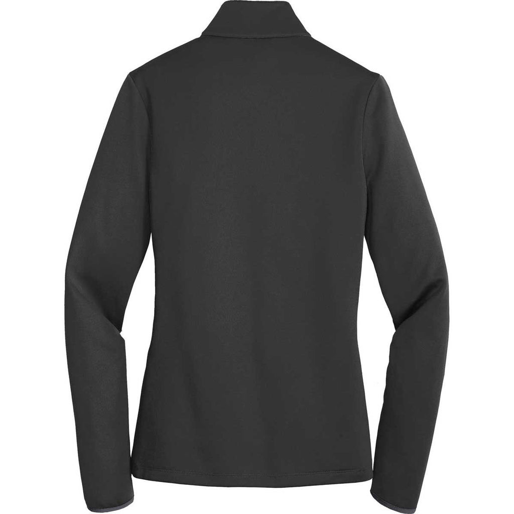 24a3906d1472 Nike Golf Ladies Black Chartreuse Therma-FIT Hypervis Full-Zip Jacket