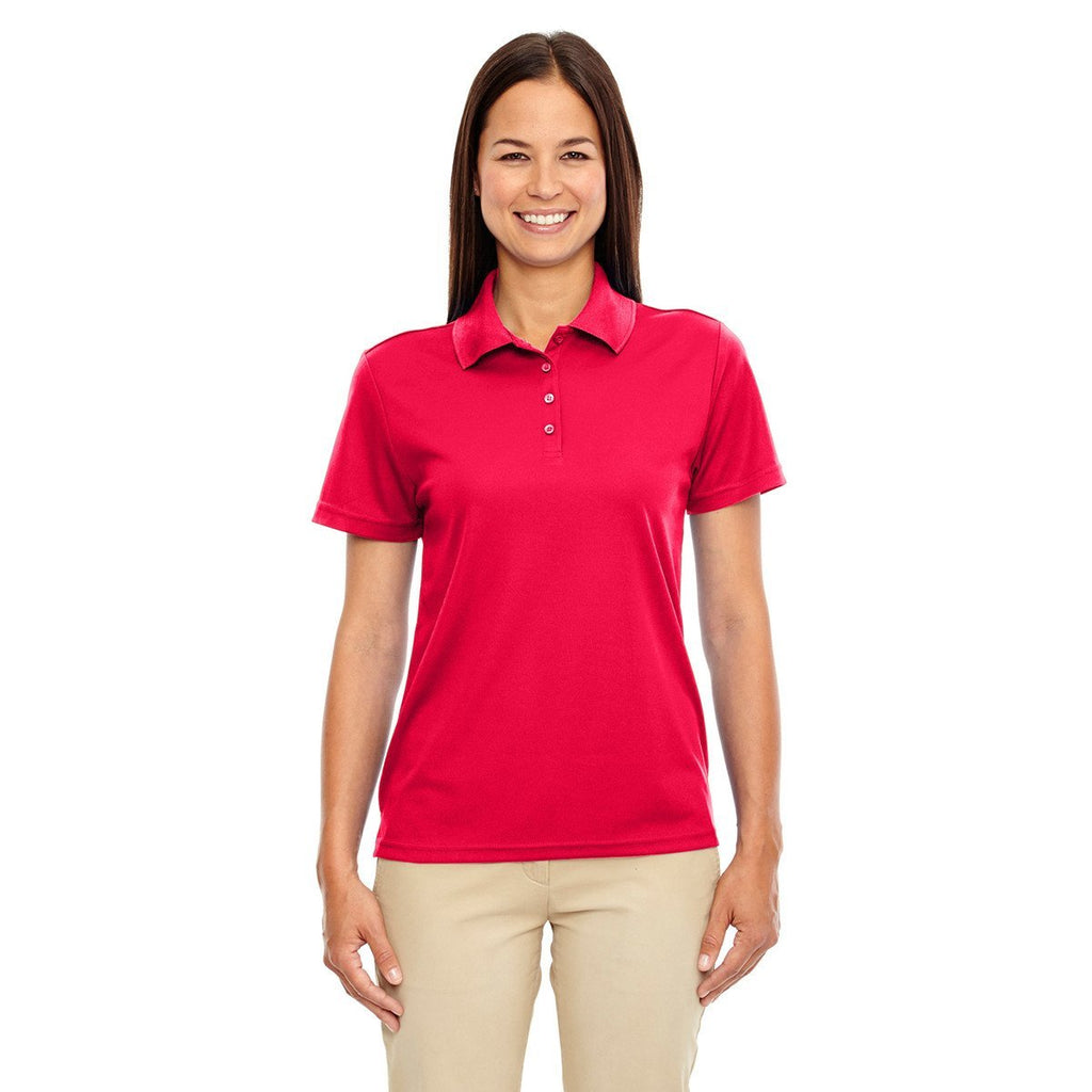 Core 365 Women's Classic Red Origin Performance Pique Polo