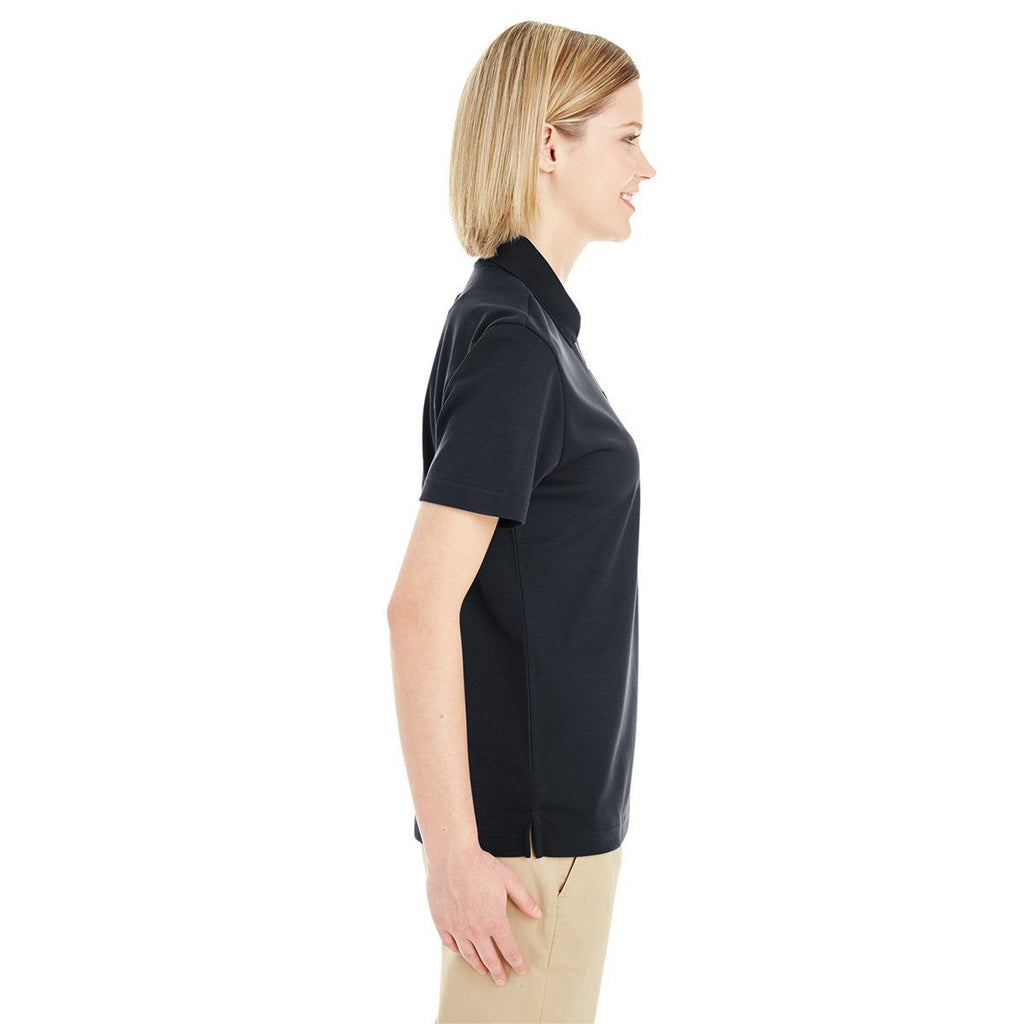 Core 365 Women's Black Origin Performance Pique Polo with Pocket