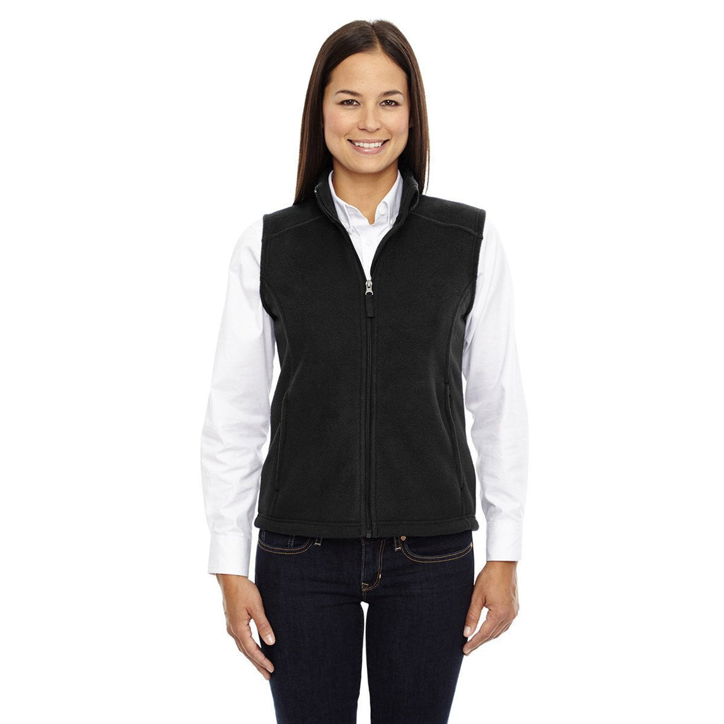 Core 365 Women's Black Journey Fleece Vest