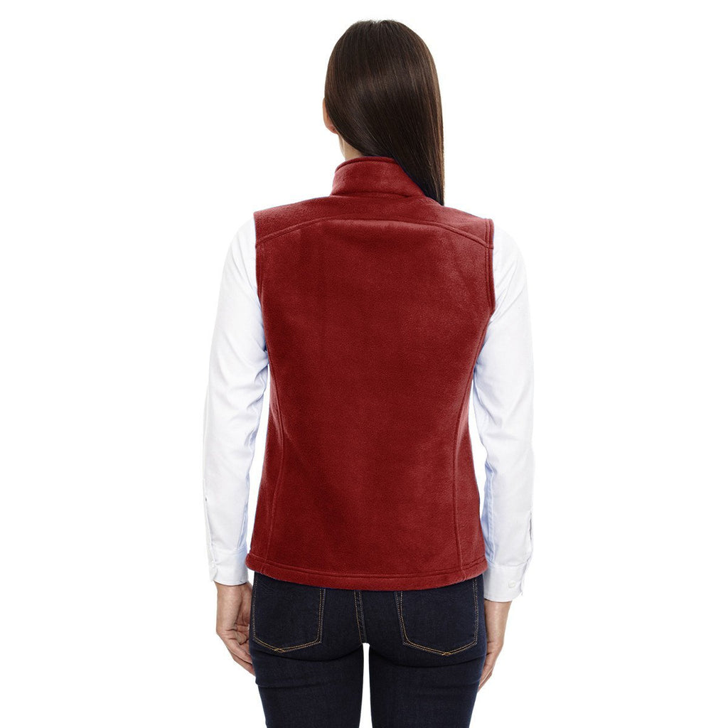 Core 365 Women's Classic Red Journey Fleece Vest