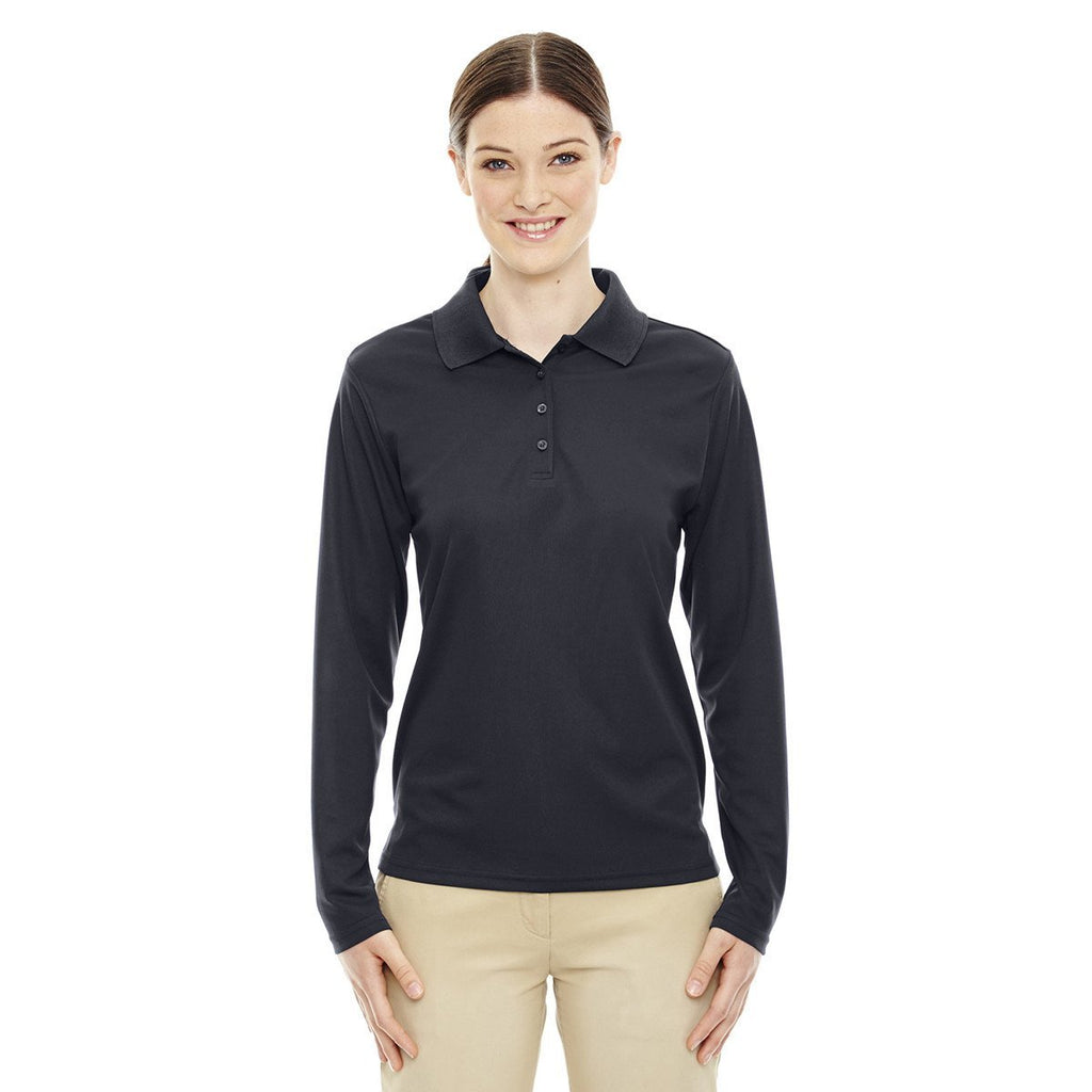 Core 365 Women's Carbon Pinnacle Performance Long-Sleeve Pique Polo