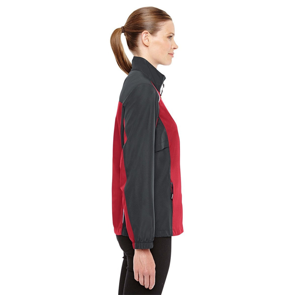 Core 365 Women's Classic Red/Carbon Stratus Colorblock Lightweight Jacket