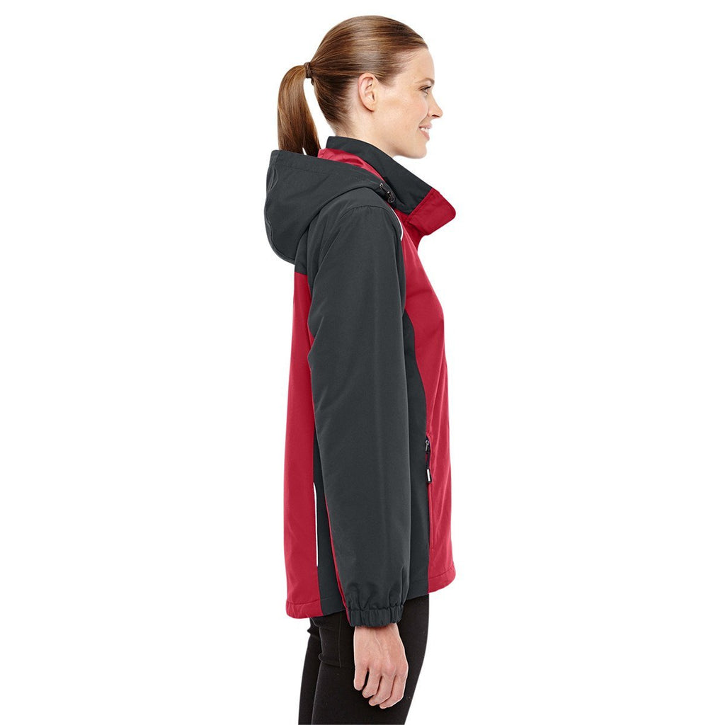 Core 365 Women's Classic Red/Carbon Inspire Colorblock All-Season Jacket