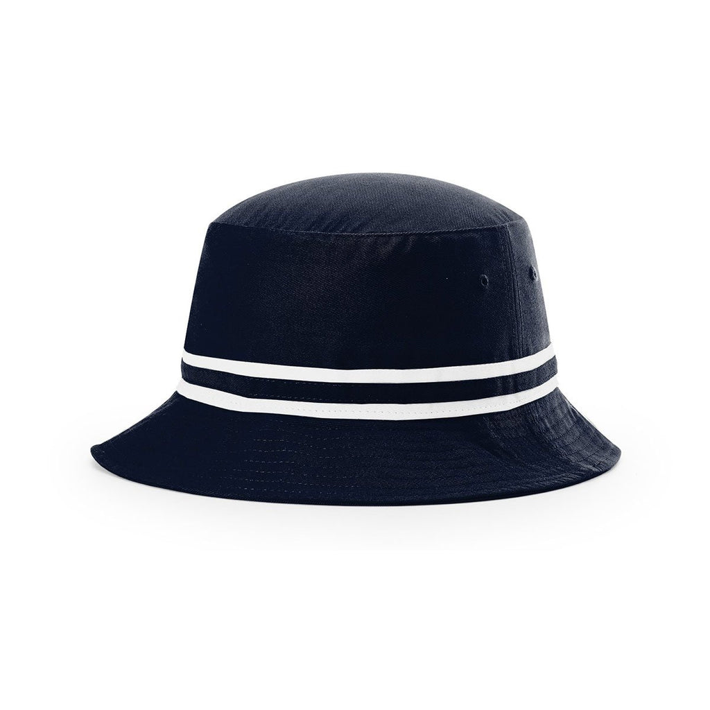 40fe965e744 Richardson Navy White Outdoor Bucket Hat with Two Color Band