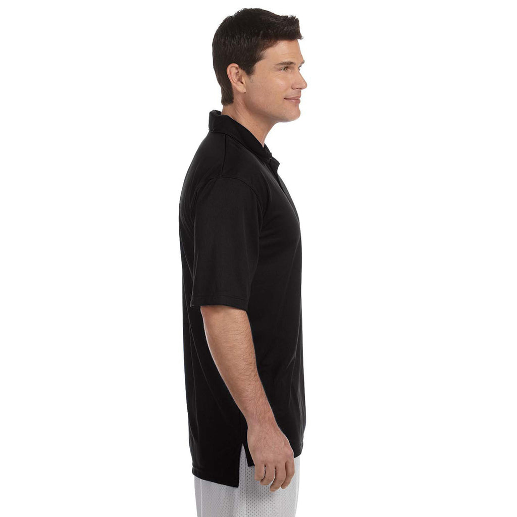 Russell Athletic Men's Black Team Essential Polo