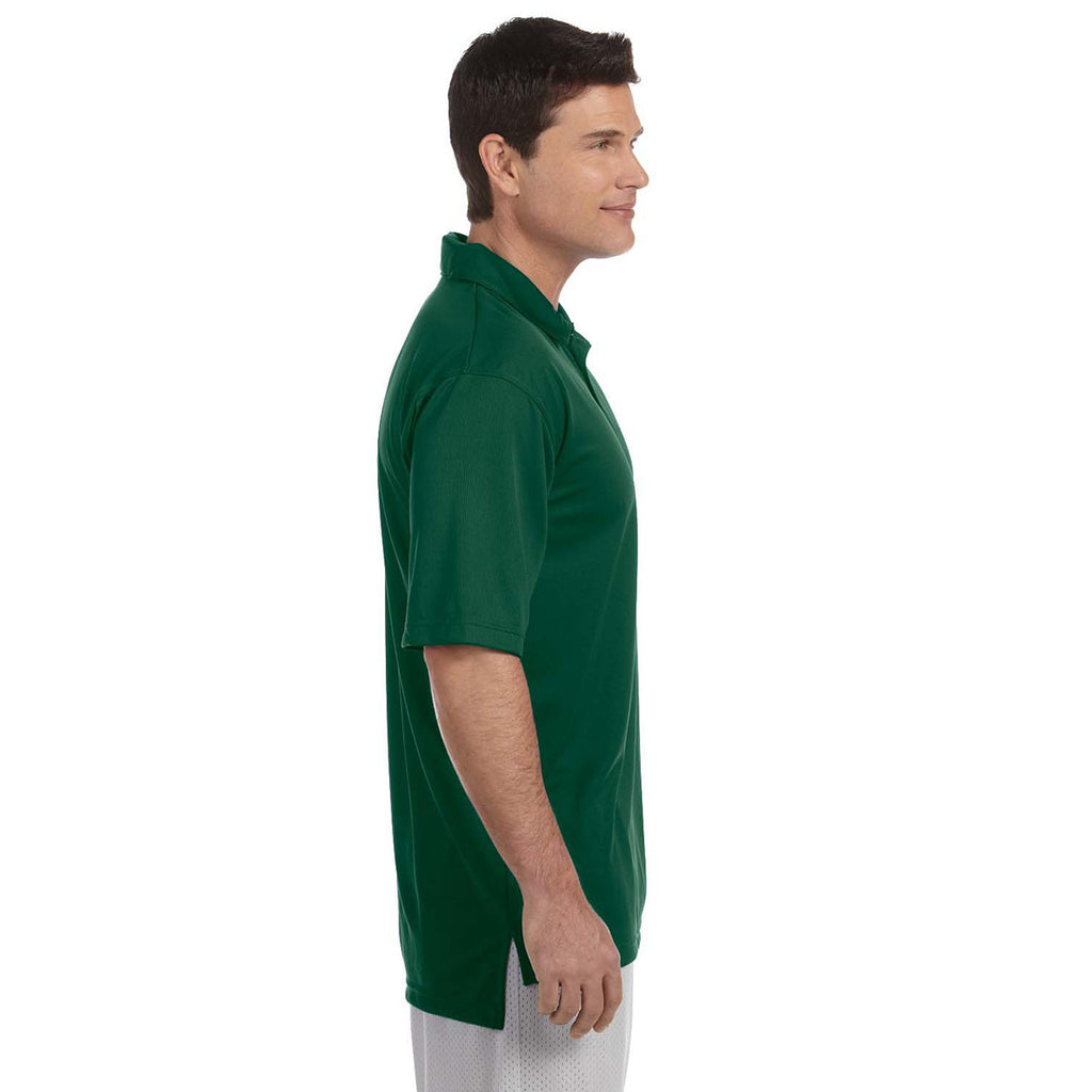 Russell Athletic Men's Dark Green Team Essential Polo