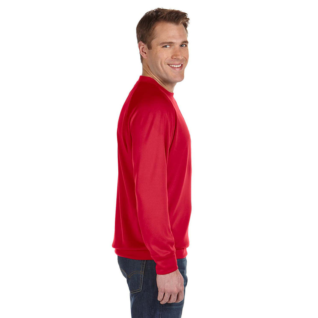 Russell Athletic Men's True Red Tech Fleece Crew