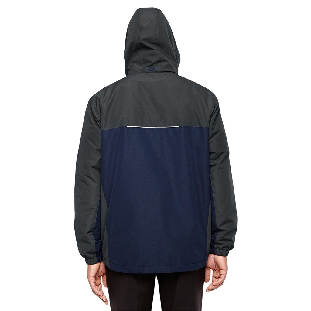 Core 365 Men's Classic Navy/Carbon Inspire Colorblock All-Season Jacket