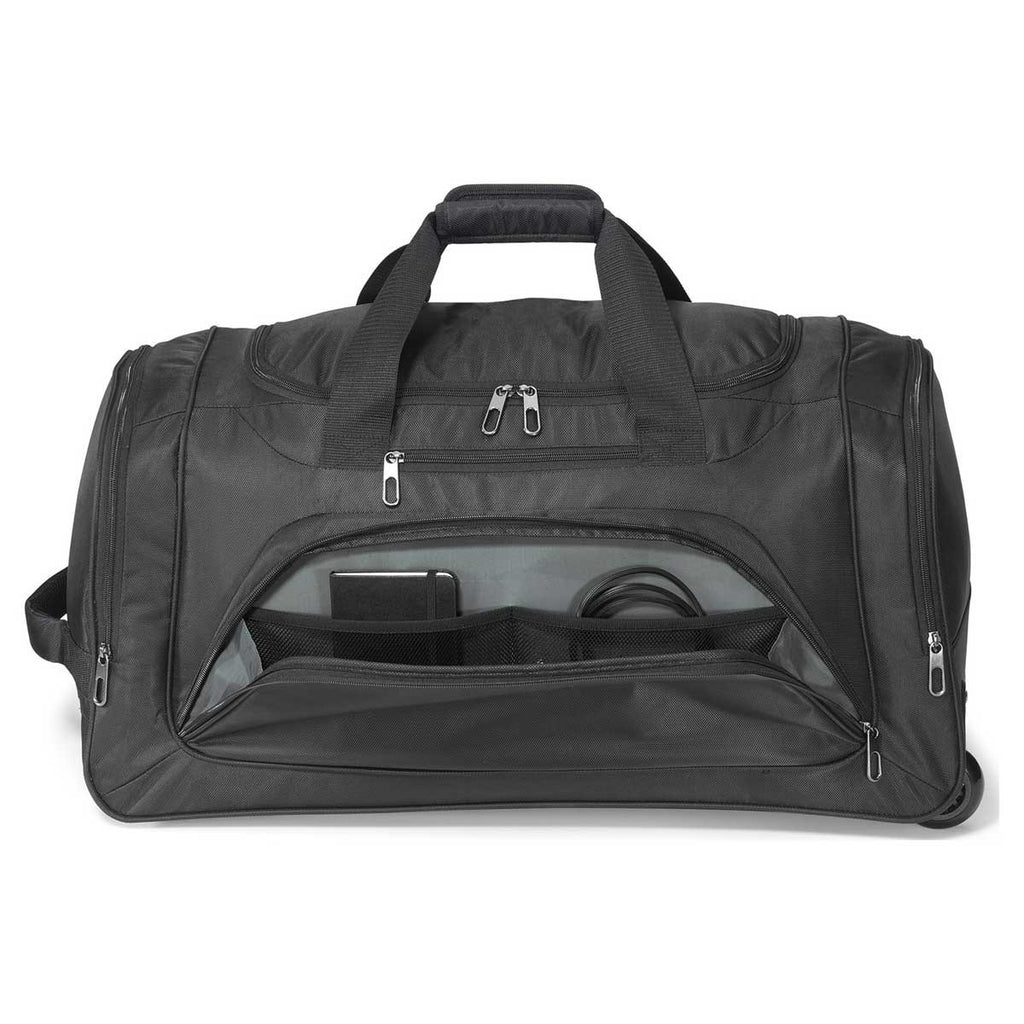 Gemline Black Cross Country Wheeled Duffel