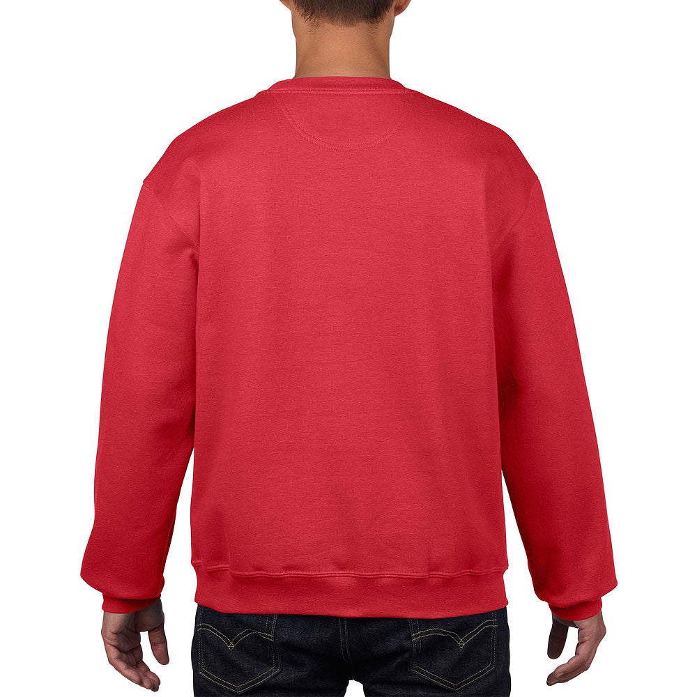 Gildan Men's Red Premium Cotton Ring-Spun Fleece Crewneck Sweatshirt
