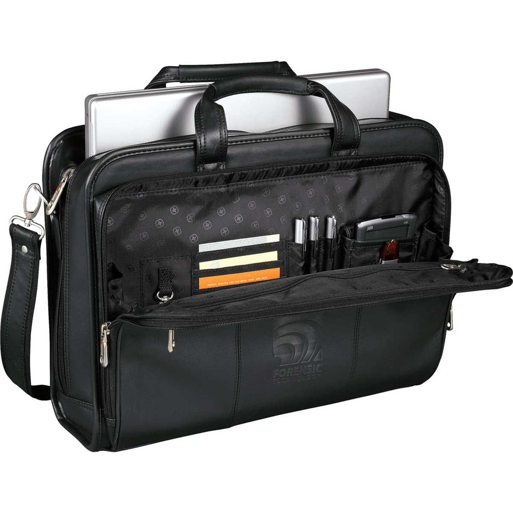 Wenger Black Executive Leather Business Briefcase