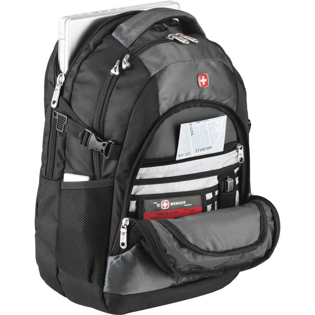 "Wenger Charcoal Tech 15"" Computer Backpack"