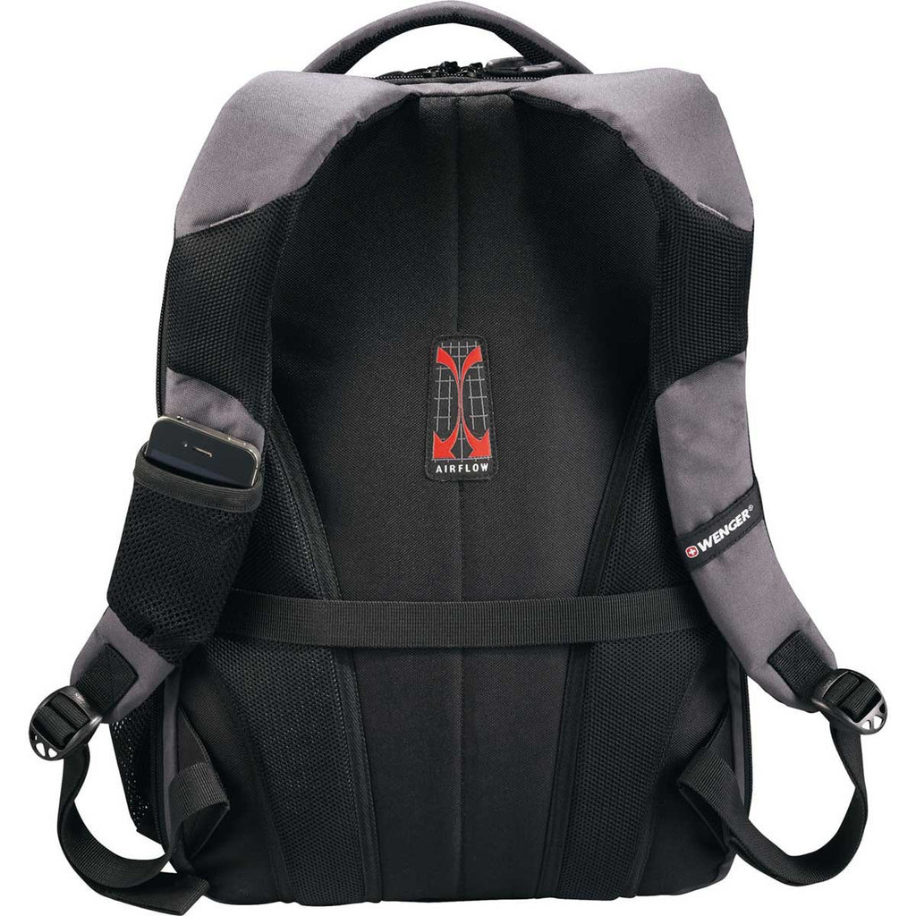 "Wenger Grey Spirit Scan Smart 17"" Computer Backpack"