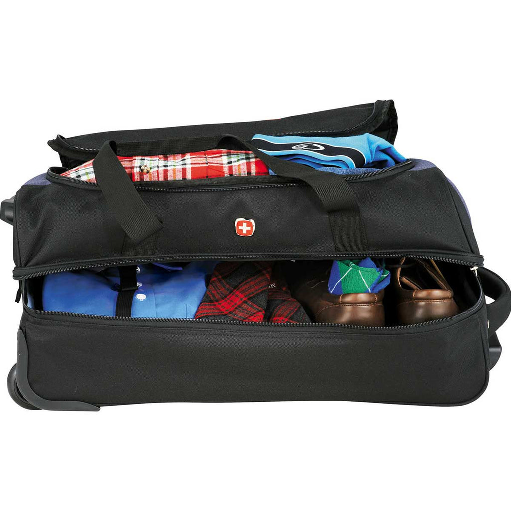 "Wenger Black 22"" Drop Bottom Wheeled Duffel Bag"
