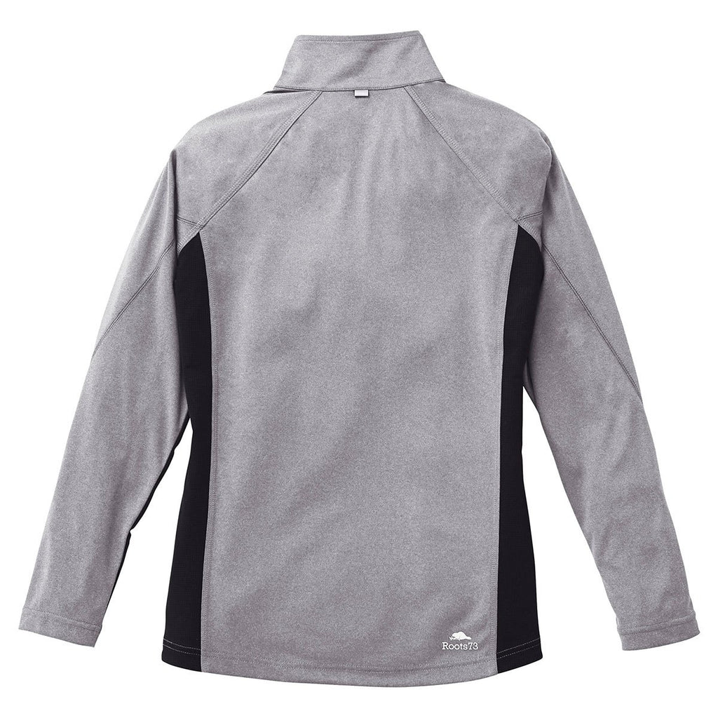 Roots73 Women's Medium Grey Mix/Black Birchlake Tech Long Sleeve