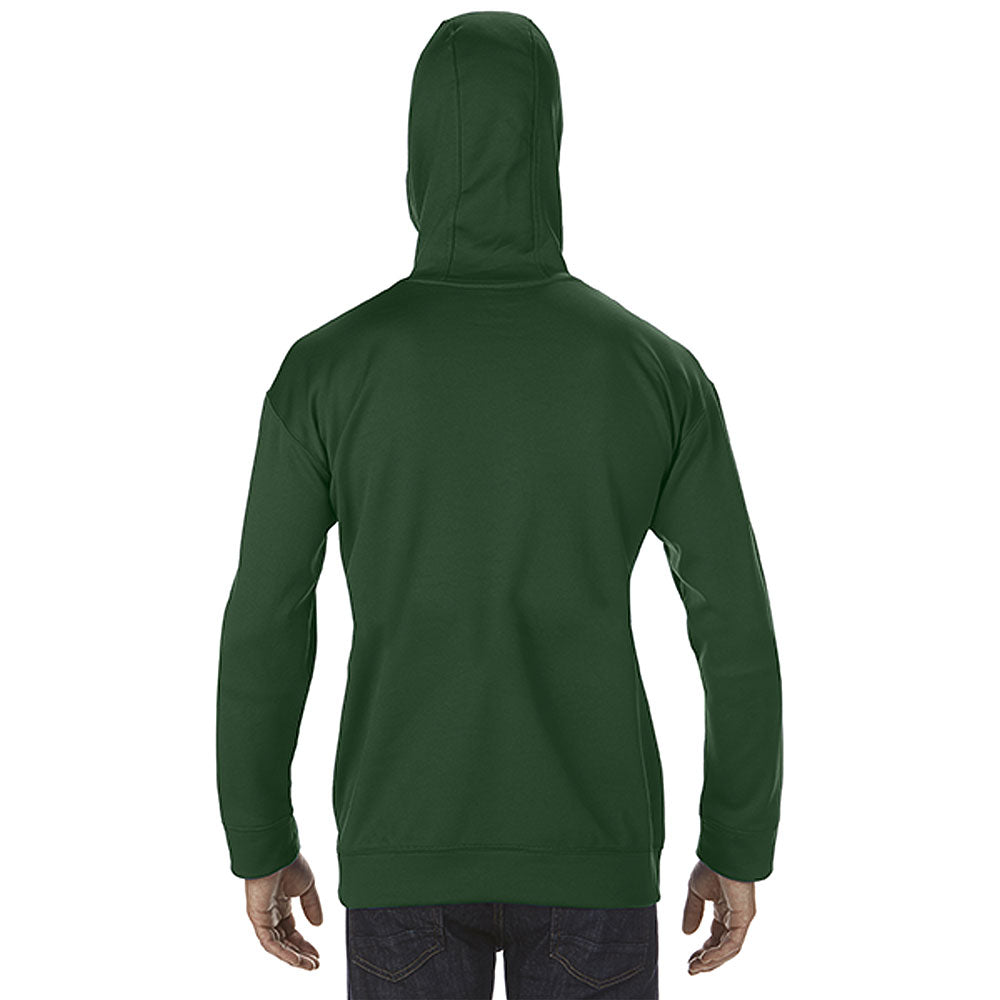 Gildan Men's Sport Dark Green Performance Tech Hooded Sweatshirt