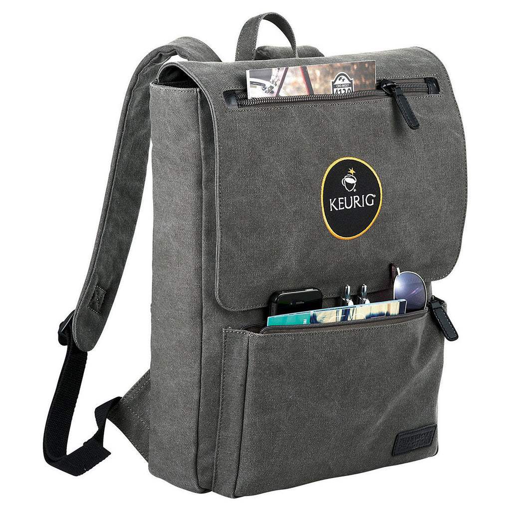 Kenneth Cole Canvas Gray/Black Compu - Backpack