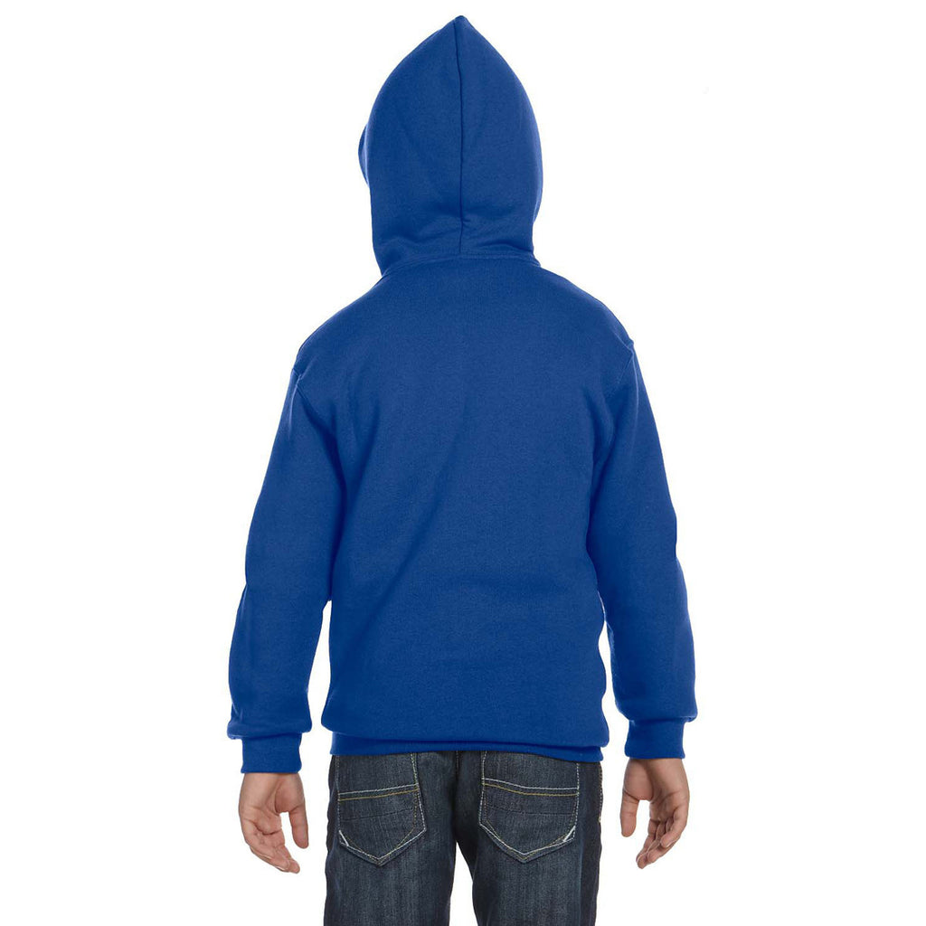 Russell Athletic Youth Royal Dri-Power Fleece Full-Zip Hood