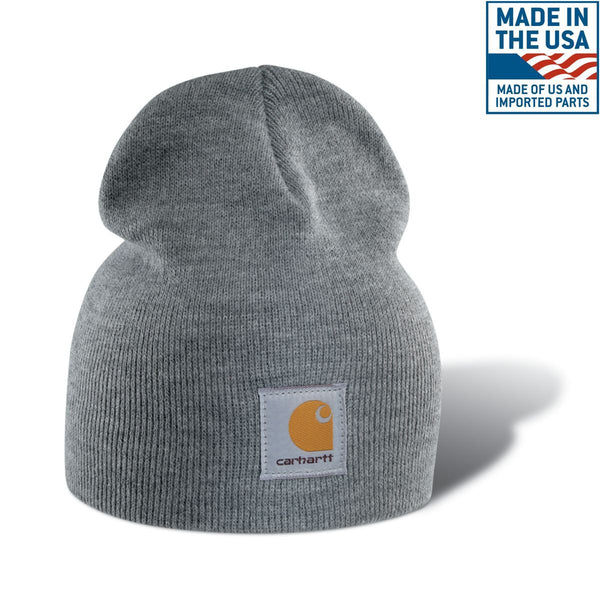 3130c26e0328e Carhartt Men s Heather Grey Acrylic Knit Hat