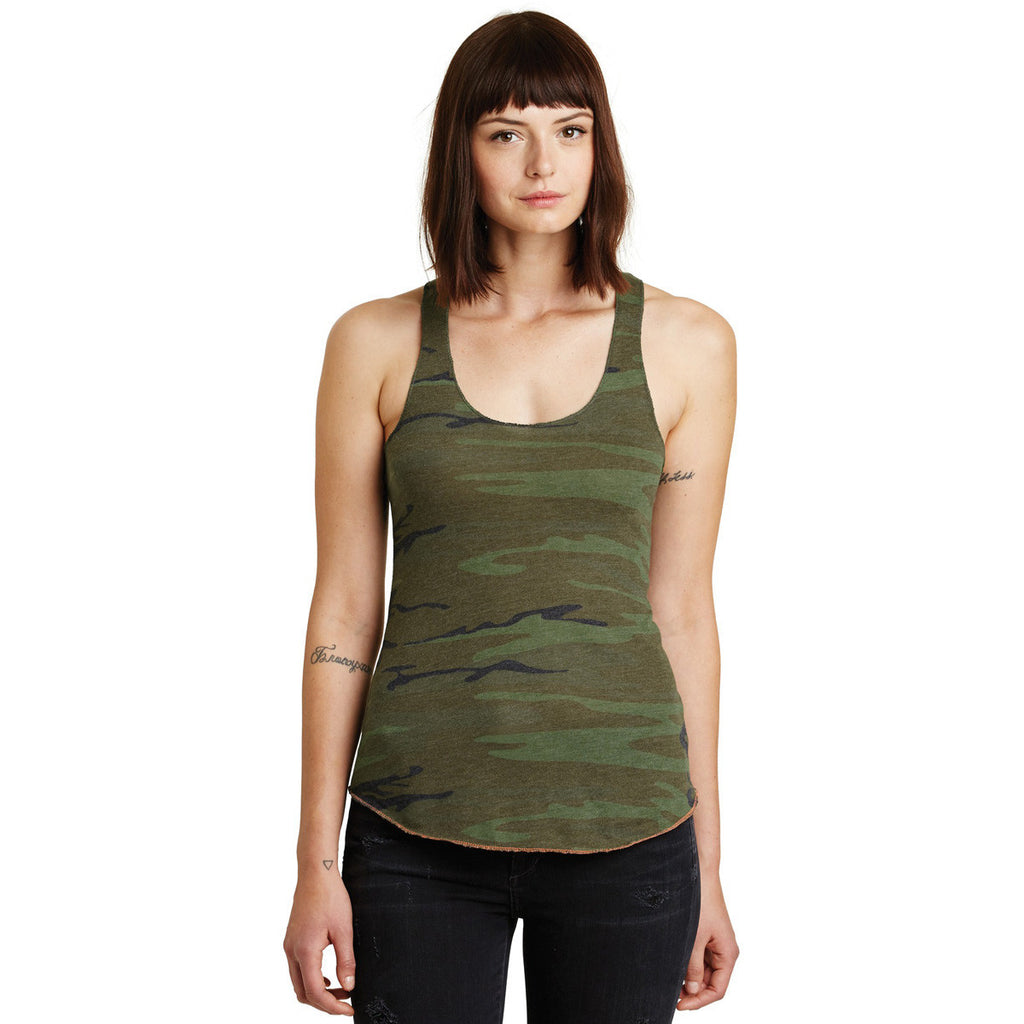 Alternative Women's Camo Meegs Eco-Jersey Racer Tank