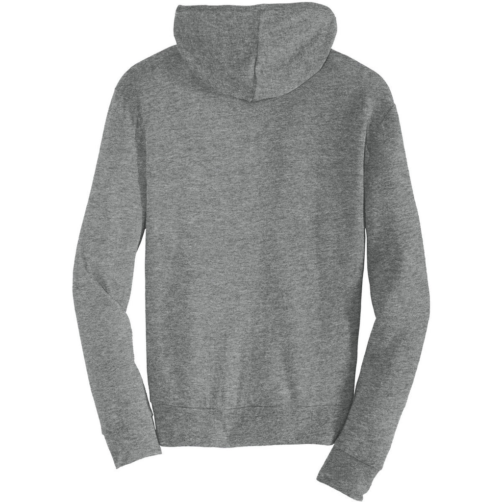 Alternative Men's Grey Eco-Jersey Zip Hoodie